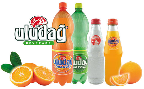 Uludag Portakalli Gazoz - Soda With Orange Flavor 1 Lt ( 33.8 Oz )