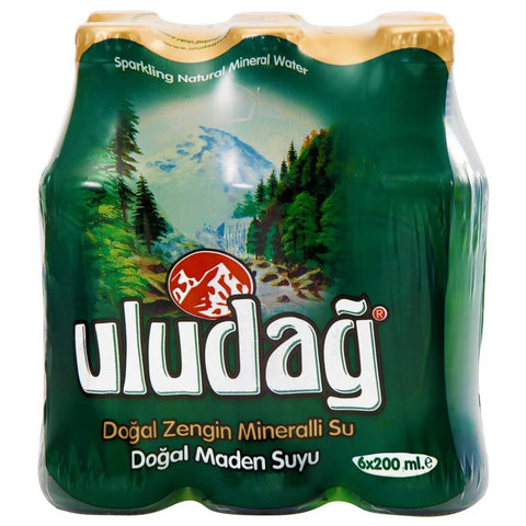 Uludag Dogal Maden Suyu - Natural Mineral Water 6 Pack 200 Ml ( 6.7 Oz )