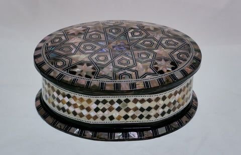 Egyptian Oval Mosaic Box (large)
