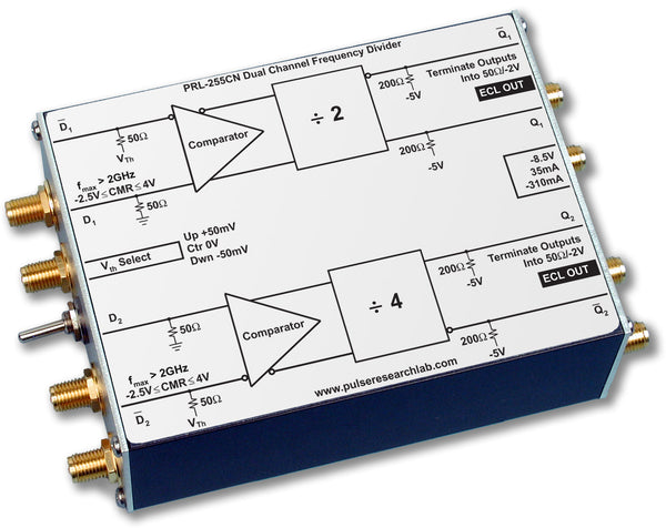 PRL-255CN-OEM, Small Signal Freq. Divider (f/2, f/4), NECL Outputs, No Power Supply