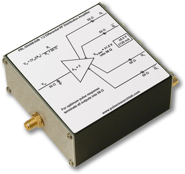 PRL-304ANI-0dB-OEM, 1:2 Fanout Differential Amplifier, 0 dB, No Power Supply