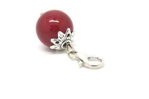 Cherry Red Pearl Dangle - LOVE K LONDON