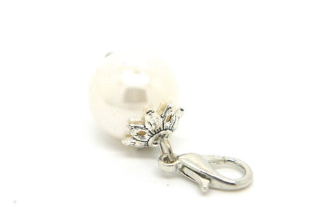 White Pearl Dangle - LOVE K LONDON