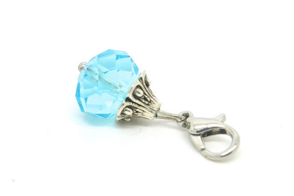 Aquamarine Crystal Dangle
