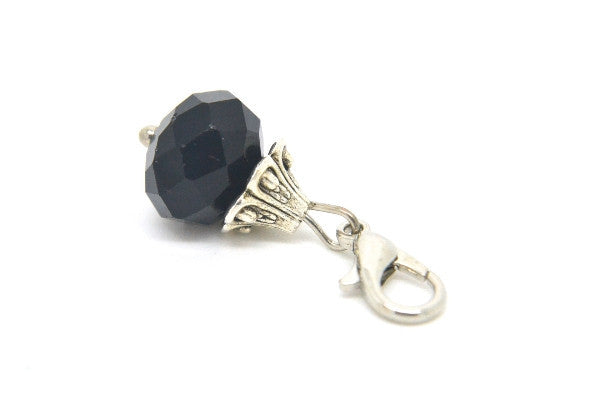 Midnight Black Crystal Dangle