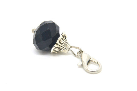 Midnight Black Crystal Dangle - LOVE K LONDON