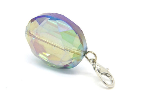 Iridescent Oval Crystal Dangle - LOVE K LONDON   - 1