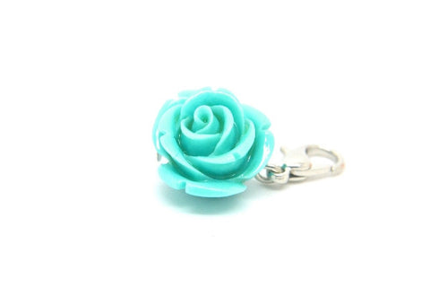 Aqua Flower Dangle - LOVE K LONDON