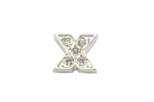 Crystal Silver X Initial