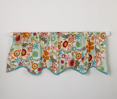 Floral Nursery Window Valance