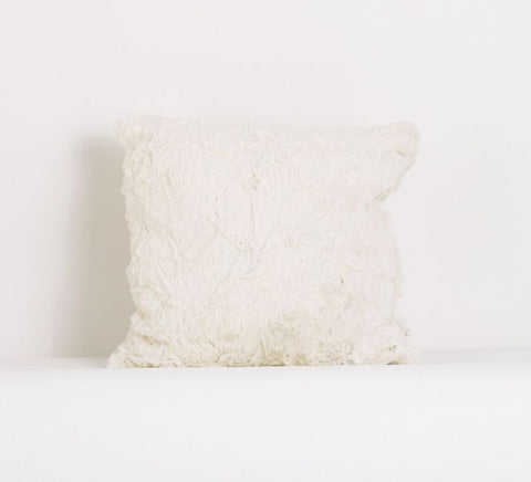 Faux Rabbit Fur Decor Pillow