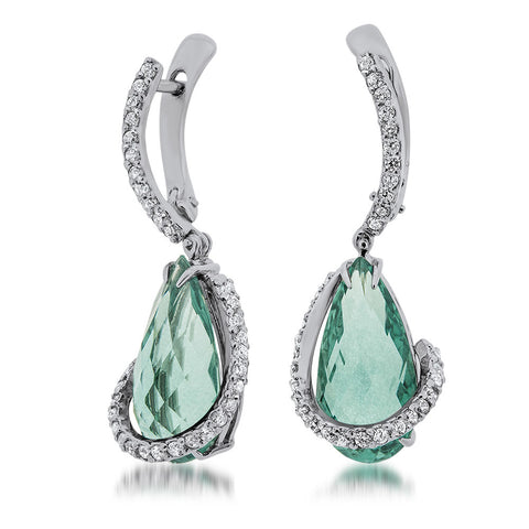925 Silver Earrings with Aquamarine