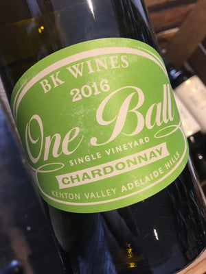 BK Wines One Ball Chardonnay 2016 75cl