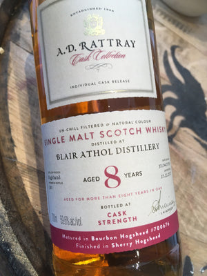 AD Rattray Blair Athol 2009 8 Year Old 70cl