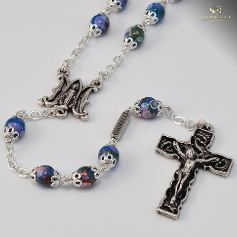 FEATURED PRODUCT: Rosary-Annunciation, Silver Plated Rosary