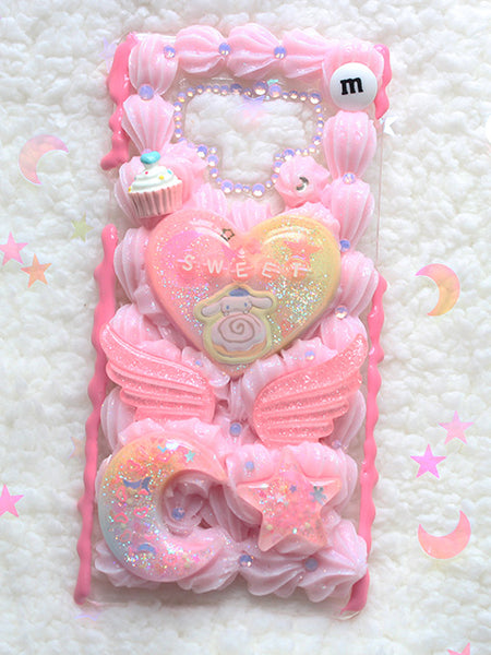 Kawaii Pastel Decoden Cinnamonroll Sweet Samsung Galaxy NOTE 9 Case - Feelin Peachy