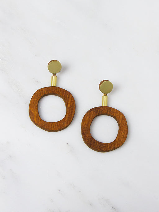 Wood Jean I Earrings by Wolf & Moon
