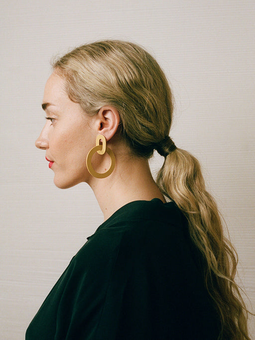 Orla II Earrings in Straw