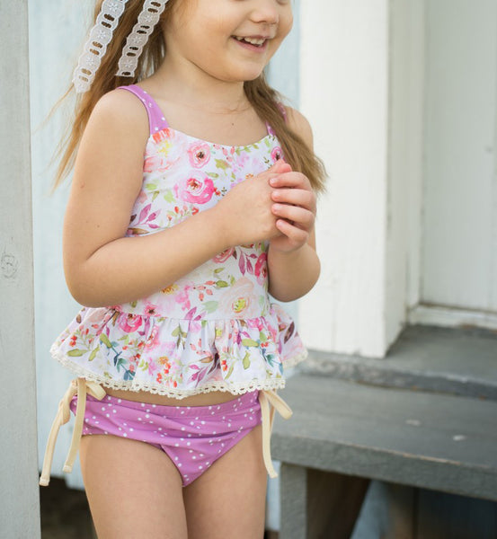 Selah Tankini Swimsuit - Pink Peony (Running Small)
