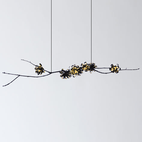 GEORGINA CHANDELIER BLACK & GOLD