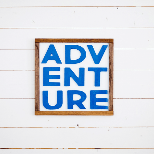 Adventure Wooden Sign - Multiple Colors - Project Nursery