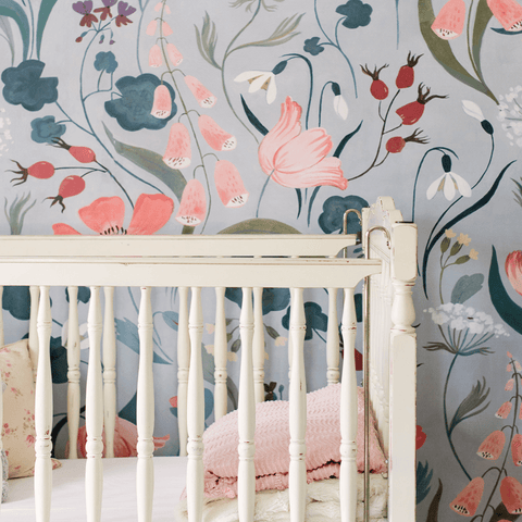 Moody Floral Self-Adhesive Wallpaper