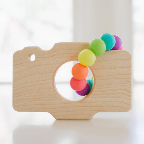 Camera Teether with Sorbet Silicone Ring - Project Nursery