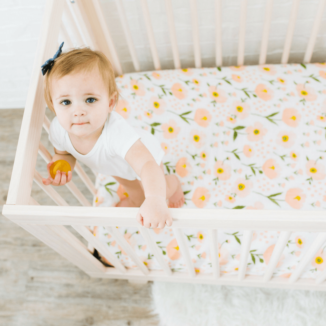 Blush Bloom Crib Sheet - Project Nursery