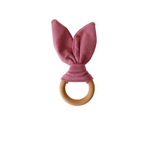 Crinkle Bunny Ears Teether - Mauve - Project Nursery