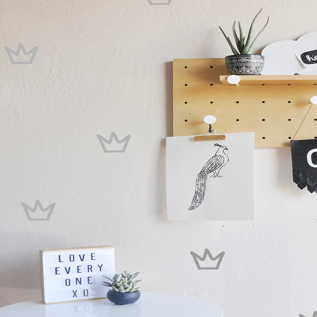 Outlined Crowns Wall Decal - Project Nursery