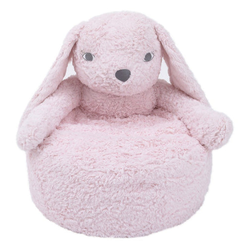 Pink Bunny Luxe Cuddle Plush Chair - Project Nursery