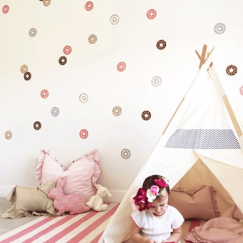 Outlined Crowns Wall Decal