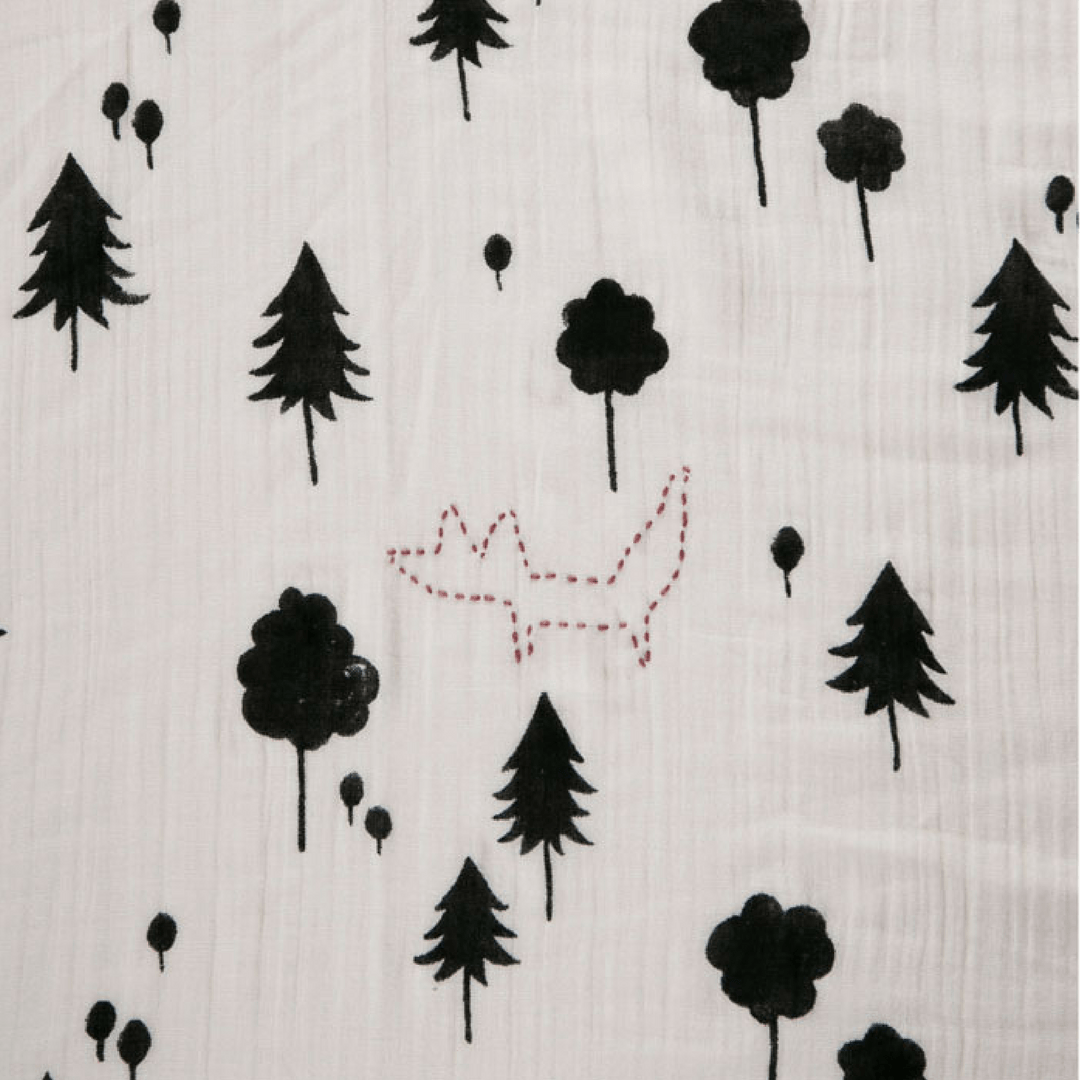 Forest Print Swaddle - Project Nursery