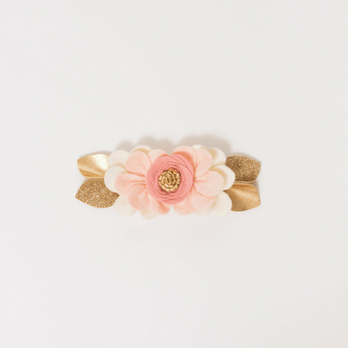 Felt Flower Pixie Crown in Blush - Project Nursery