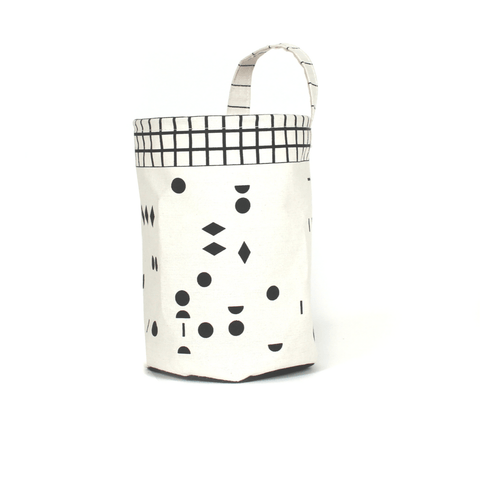 Peek-A-Boo Faces + Hatched Dots Storage Mini - Girl