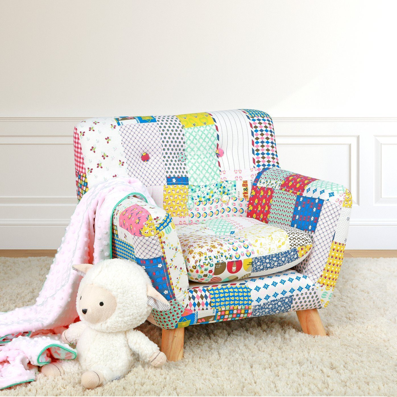 Jacey Floral Kids Patchwork Chair - Project Nursery