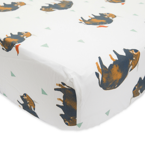 Percale Crib Sheet in Bison - Project Nursery