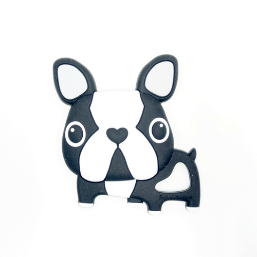 Black Boston Terrier Teether - Project Nursery