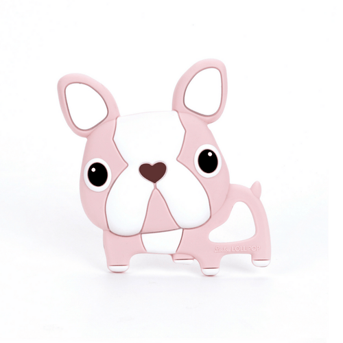 Pink Boston Terrier Teether - Project Nursery