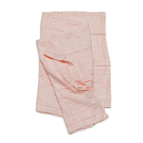 Pink Mudcloth Bamboo Swaddle - Project Nursery