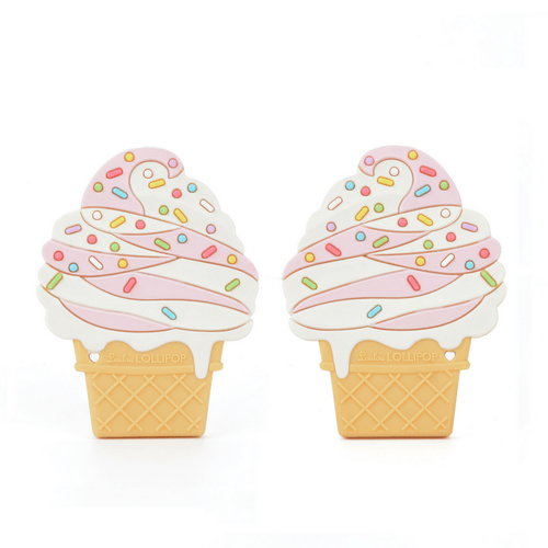 Strawberry Ice Cream Teether with Clip - Project Nursery