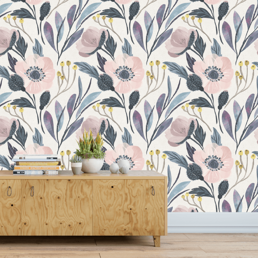Moody Floral Self-Adhesive Wallpaper - Project Nursery