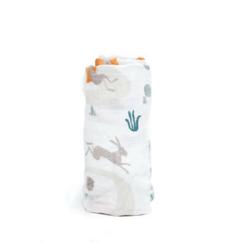 Slow and Steady Swaddle Blanket - Project Nursery