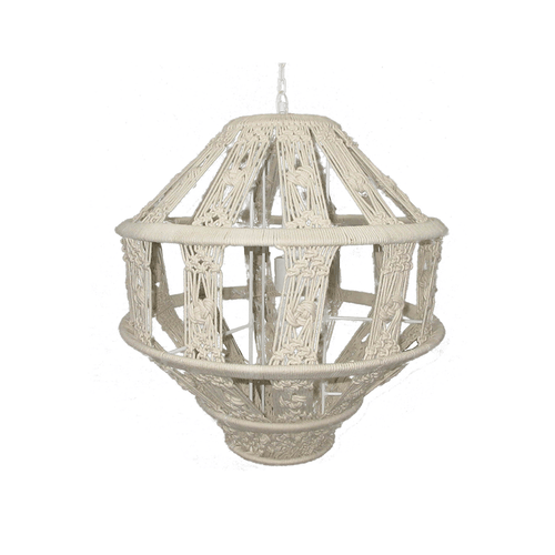 Tula Hanging Macrame Pendant Light - Project Nursery