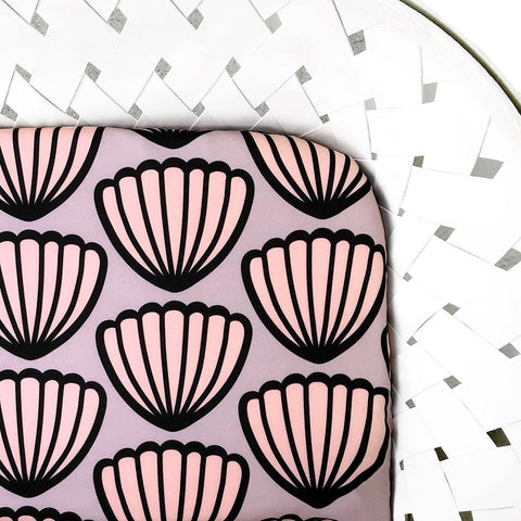 Pink Mountains Crib Sheet