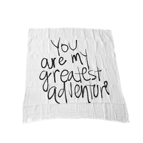 You Are My Greatest Adventure Organic Swaddle - Project Nursery