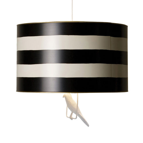 Tin Hanging Lamp in Black Stripe - Project Nursery