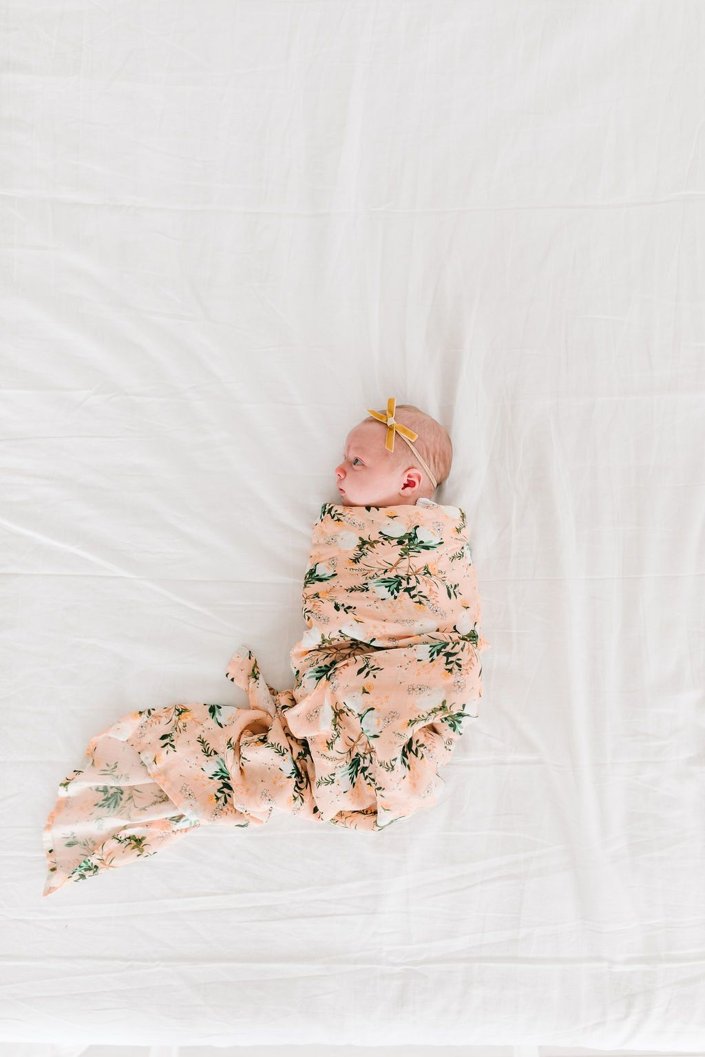 Blushing Protea Muslin Swaddle Blanket - Project Nursery
