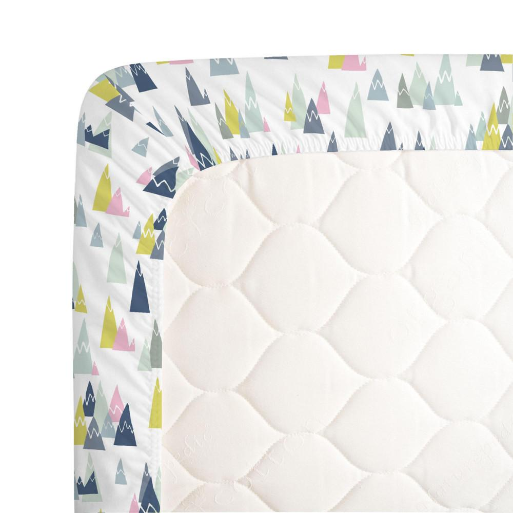 Pink Mountains Crib Sheet - Project Nursery
