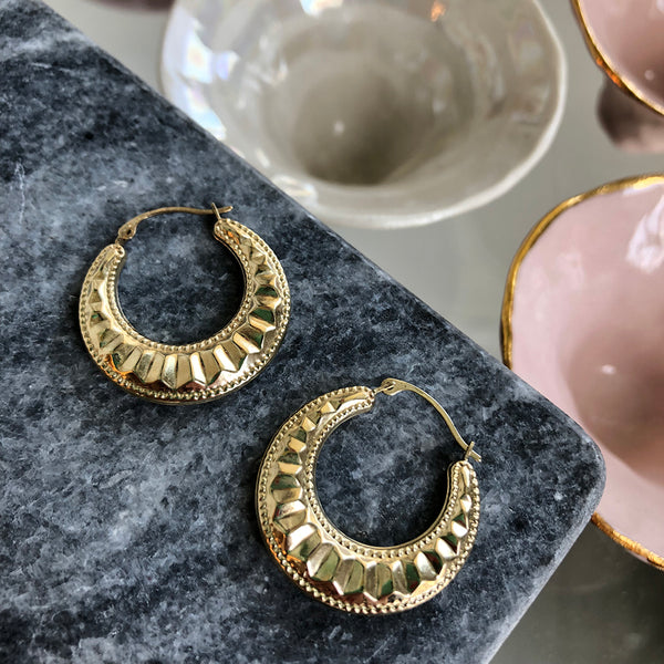 LARGE CLEO HOOPS